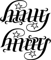 """Halle"" & ""Harper"" Ambigram"