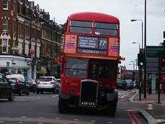 RTW75 on route 77a Clapham. 19/09/10 (Ledlon89) Tags: bus london buses general transport titan clapham rtw lt leyland londonbus tfl rtbus