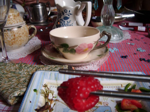 fancy tea by Jane for the baby shower
