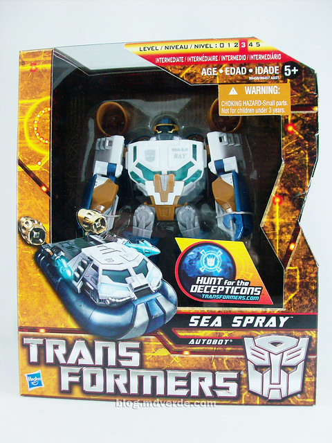 Transformers Seaspray Hunt for the Decepticons Voyager - caja