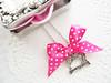 ♥C146 (♥adornoartesanato♥) Tags: pink silver necklace handmade dots colar bijutaria jewerly prateado lacinhos máquinacostura adornoartesanato sewingmachinery