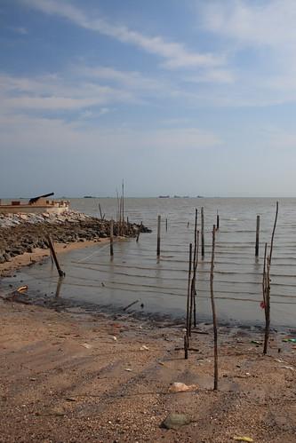 Seaside by the Portuguese Settlement, Melaka Malaysia