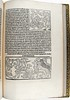 Page of text with two woodcut illustrations from 'Dialogus creaturarum moralisatus'. Sp Coll S. M. 1986.
