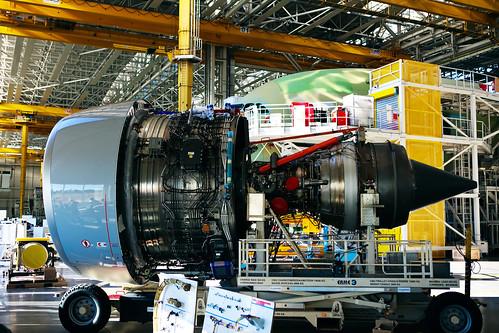 Un motor del A380