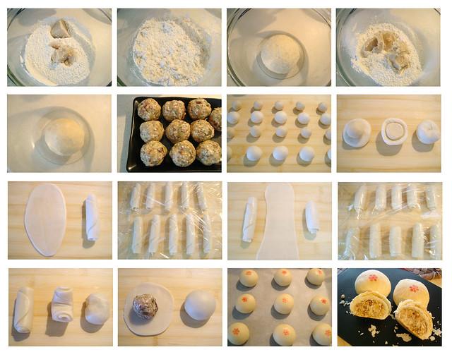 酥皮月饼制作过程