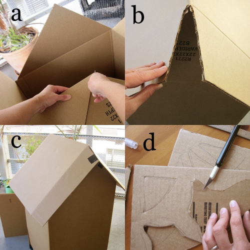 DIY Cardboard Haunted House (how-to) by Brenda Ponnay for Alphamom.com