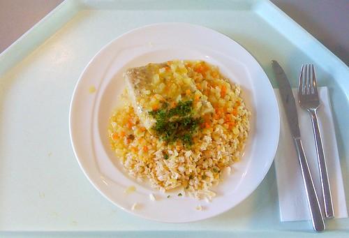Orangenpochierter Seelachs / Orange poached coalfish