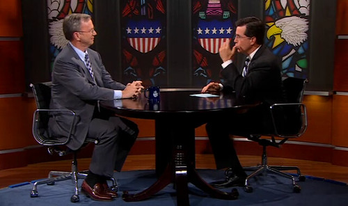 Google's Eric Schmidt on The Colbert Report