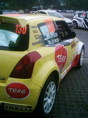 Kruuda Suzuki Swift S1600 (74Mex) Tags: park 3 deutschland day rally service swift suzuki trier 2010 postevent s1600 kruuda