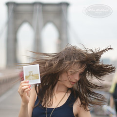 brooklyn bridge (PTitu) Tags: portrait polaroid brooklynbridge crazyhair wildhair hairmotion