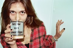 let me wet your lips (corinne_adelle) Tags: red white black cup girl sex ashley flannel