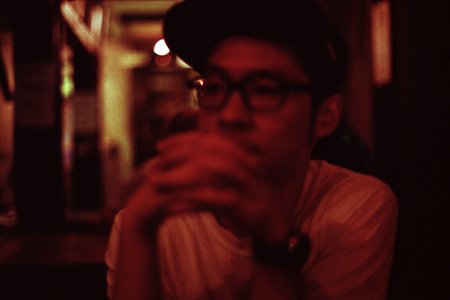 Drinking.