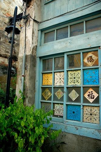 紙花雕窗戶