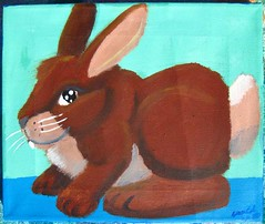 Cute Animal Triptych Bunny