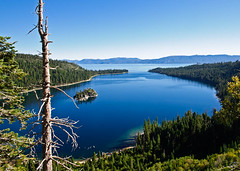 Emerald Bay (TXphotoblog) Tags: california park blue trees lake plant color green water landscape island bay harbor scenic laketahoe emeraldbay fannetteisland