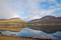 Morning in Reyðarfjörður (*Jonina*) Tags: sea sky reflection iceland village ísland himinn hafið speglun coth reyðarfjörður reydarfjordur þorp absolutelystunningscapes