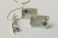 Silver turquoise set