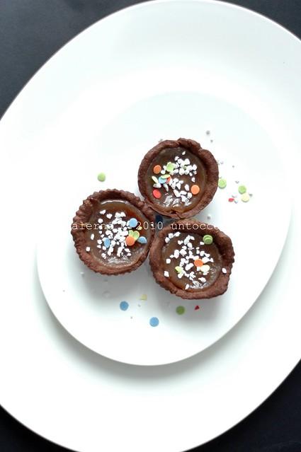 frolline al cacao con composta di fagioli di Sarconi
