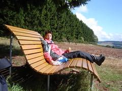 Alex auf der Relax-Bank