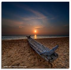 Retired (DanielKHC) Tags: old sunset sea sky india 3 beach clouds boat interestingness sand nikon decay kerala explore dri hdr d300 danielcheong danielkhc tokina1116mmf28