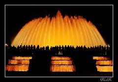 magic fountain (Andrea Bargi) Tags: longexposure night canon 50mm flickr magic acqua fontana notte barcellona magicfountain 50mmf18 magica canon50mm blackice lunghe esposizioni fontanamagica canon400d platinumphoto