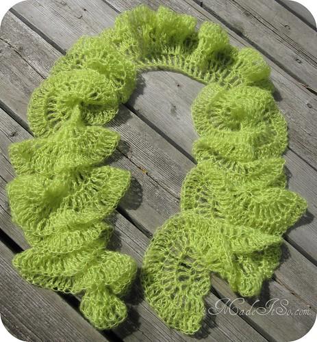 hyperbolic anemone scarf crocheted