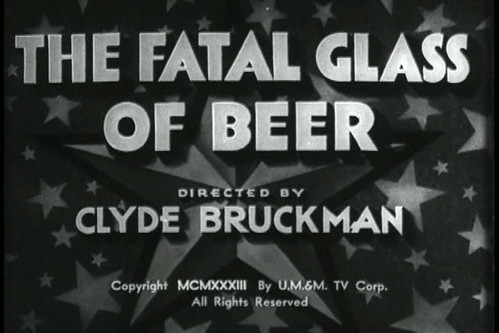 The Fatal Glass of Beer affiche