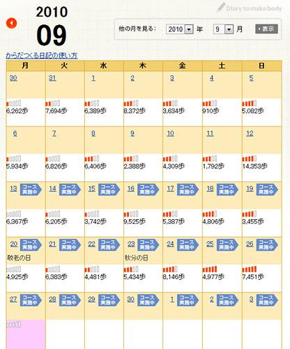 深体創工房 歩数カレンダー