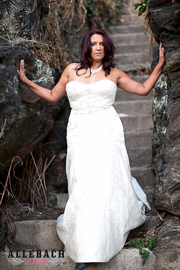 Trash the Dress with tattooed Bride