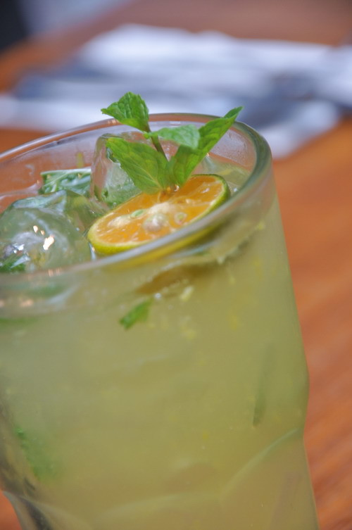 mint calamansi soda