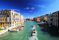 Grand Canal - Venice (` Toshio ') Tags: venice italy building history water architecture river boat canal europe european boating historical europeanunion grandcanal venetia canalgrande toshio pontedellaccademia smariadellasalute
