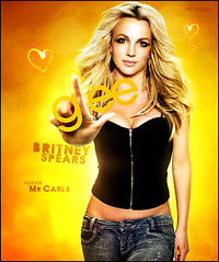 Britney Spears - GLEE (Mr. Carls) Tags: orange love look by wow that for design tv cool flickr comic all heart mr spears great thinks carlos s it h alegria job britney sr henrique tanks glee carls 2010 collor seriado