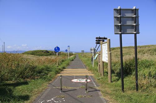 利尻島のサイクリングロード