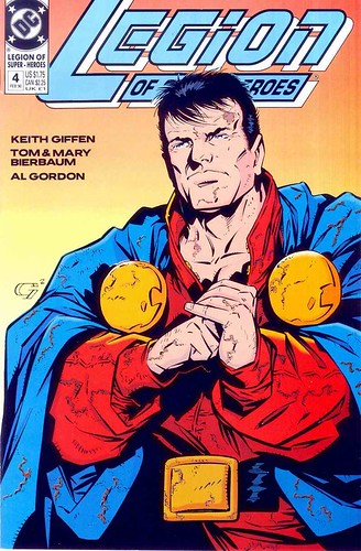 Legion of Super-Heroes 4 1989 Mon-el cover by Keith Giffen