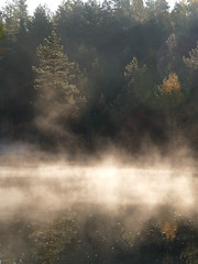 lake Mustjrv (nipitiri123) Tags: morning autumn mist lake estonia jussi krvemaa mustjrv vanagram