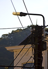 Electricity (PimJP) Tags: sky lamp canon internet cable cannon electricity lantern kabel 30d