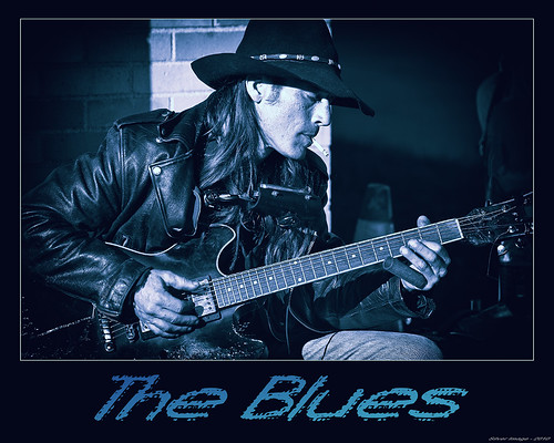 Blues poster cyanotype