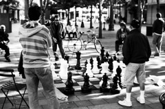 Street Chess (Greg Nissen) Tags: seattle street leica blue brown photography 50mm washington fuji greg natural scanner f14 14 206 9 nat ii cameras pre physics wa fujifilm neopan 100 hip hop rappers scholars m2 summilux ilford asph minutes thig acros prometheus nissen ddx geologic plustek ilfotec preasph 7600i thignat