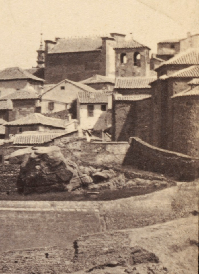 Iglesia de San Lucas hacia 1864. Fotografía de Robert Peters Napper para Francis Frith (detalle)