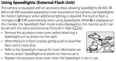 Using Nikon Speedlight flash units, as documented on page 216 of the Nikon P7000 manual