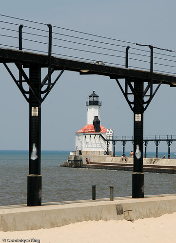 Michigan City Pier Lighthouse Indiana-2