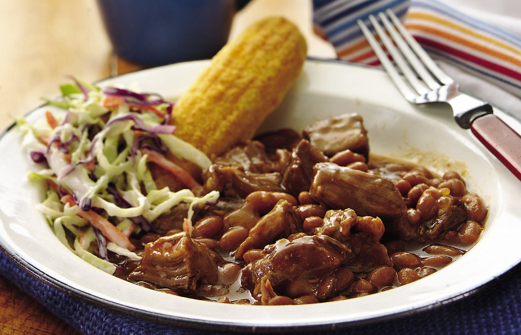 Slow Cooker Barbecue Beans and Beef