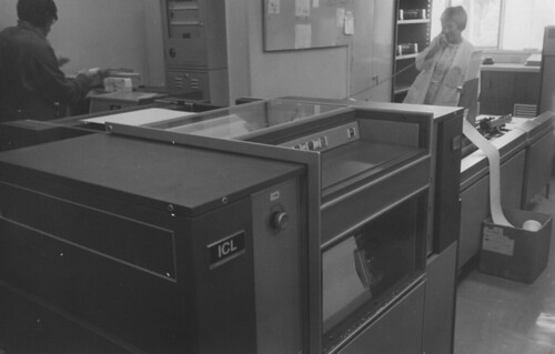 A Computer Storage Unit With Printer, The University Of Newcastle,  Australia   1970s