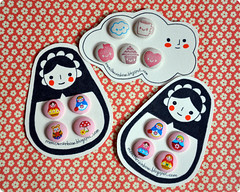 Autumn Fabric Covered Buttons