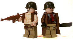 MMCB Americans (*Nobodycares*) Tags: lego m1 gis wwii pot worldwarii american ww2 guns vests worldwar2 machetes helmets koreanwar uas trenchcoats sheaths brickarms sluban mmcb