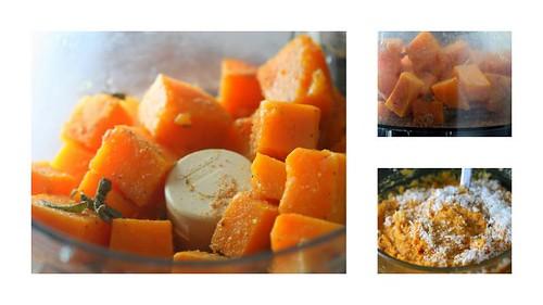 agnolotti di zucca (pumpkin ravioli) - making the filling