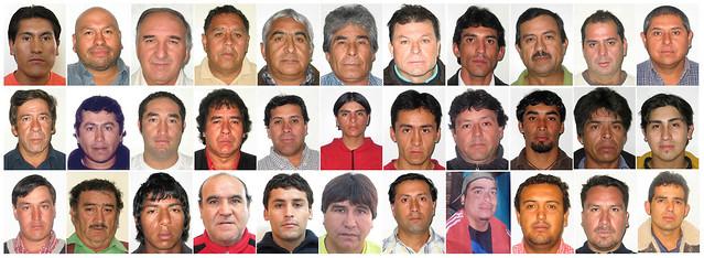 Fotografias De Carnet De Los 33 Mineros Atrapados En La Mina De San