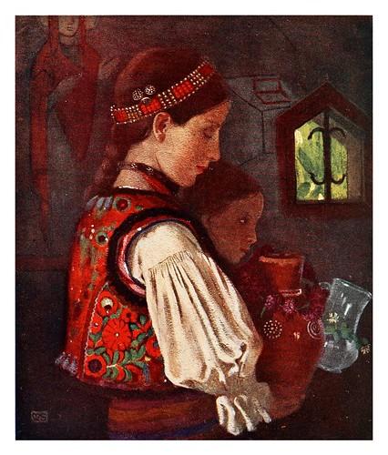 015-Niños rumanos llevando agua para ser bendecida-Hungary-1911-Adrian y Marianne Stokes