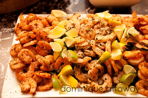 shrimps from Mosaic cafe in richmond