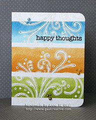 One-Layer Happy Thoughts (front) (prospurring (Anne)) Tags: blue orange white green ranger pearls heroarts masking happythoughts peeledpaint watercolorpaper embossingpowder rustyhinge versamark fadedjeans distressinks tumbledglass archivalink heatembossed tsukineko waterproofinks prospurring nonstickcraftsheet watermarkink cl267 s5146 seafoamwhite cardmessages shabbyshutters boldflourish ch216 ch213 seamixedaccents ch214 earthmixedaccents sunshinemixedaccents driedmarigold spongedabbers eclipsetape